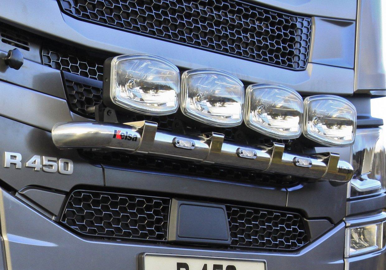 Přední nerezový rám Kelsa MiniBar pro  Scania Next Generation R&S Vysoká kabina