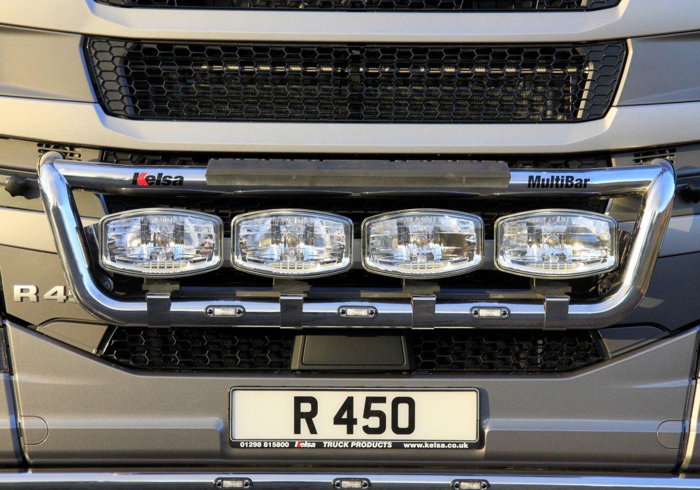 Přední nerezový rám Kelsa MultiBar pro  Scania Next Generation R&S Vysoká kabina