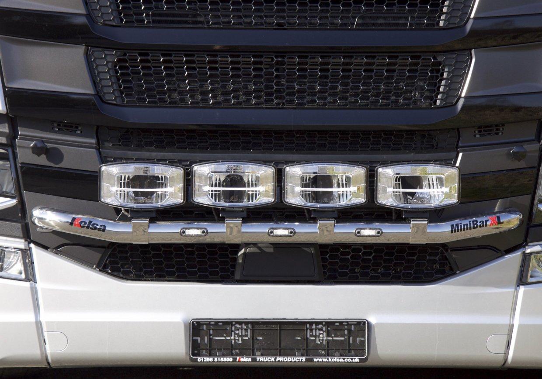 Přední nerezový rám Kelsa MiniBarXL pro  Scania Next Generation R&S Vysoká kabina