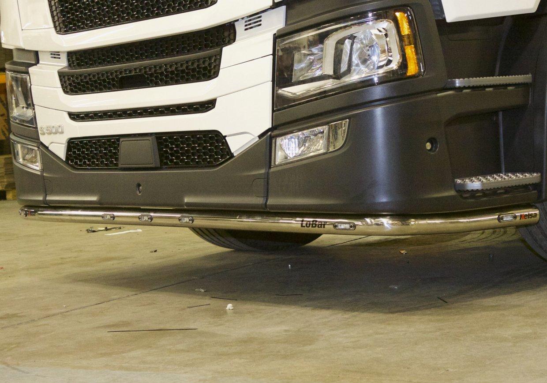 Nerezový rám po nárazník Kelsa LoBar Vysoký nárazník pro  Scania Next Generation R&S Vysoká kabina