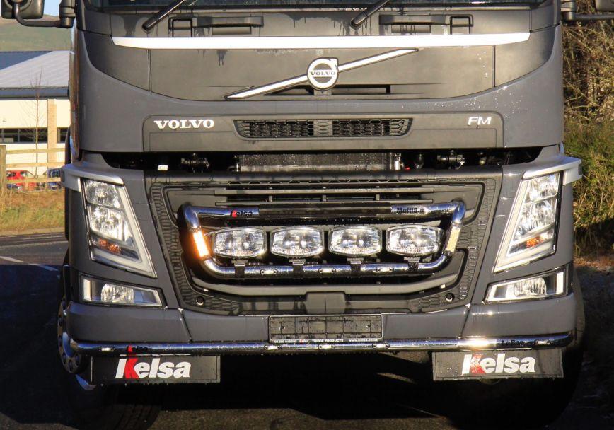 Nerezový rám po nárazník Kelsa LoBar pro  Volvo FM Euro6 Daycab