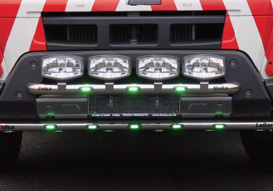 Přední nerezový rám Kelsa MiniBar pro  Volvo Euro 6 FMX Globetrotter