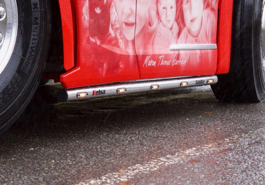 Boční nerezové rámy Kelsa SideBars SS21 6x2 Midlift pro  Scania Next Generation R&S Vysoká kabina