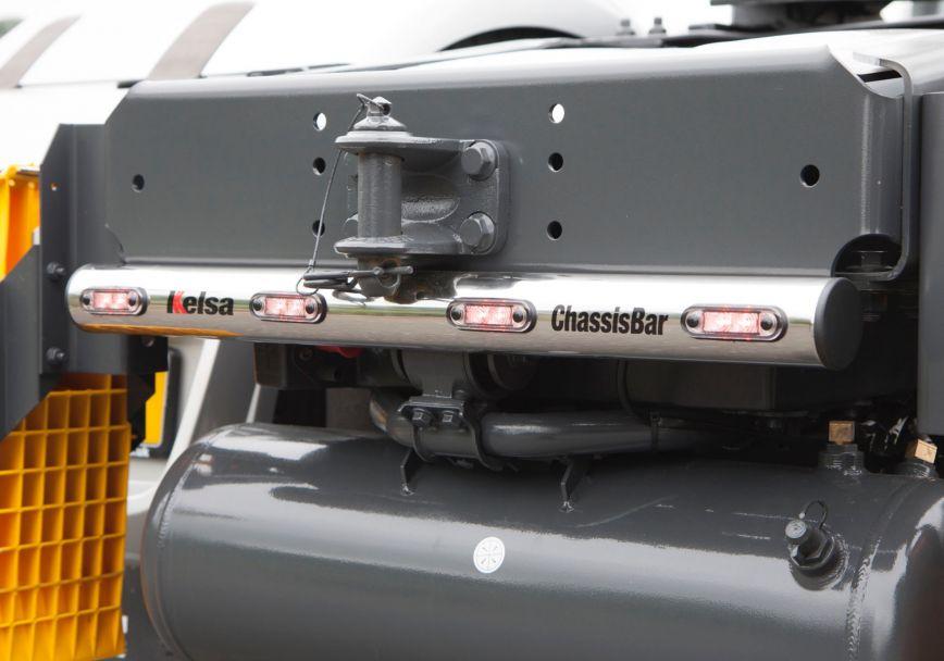Zadní nerezový rám Kelsa ChassisBar pro  DAF XF106 Superspace