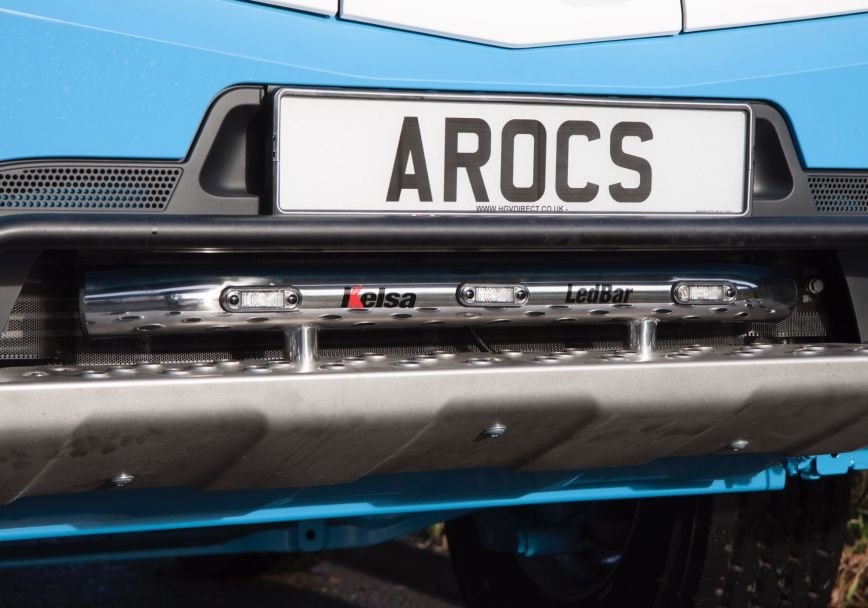Přední nerezový rám/lišta Kelsa LedBar pro  Mercedes Arocs Streamspace 2.5m