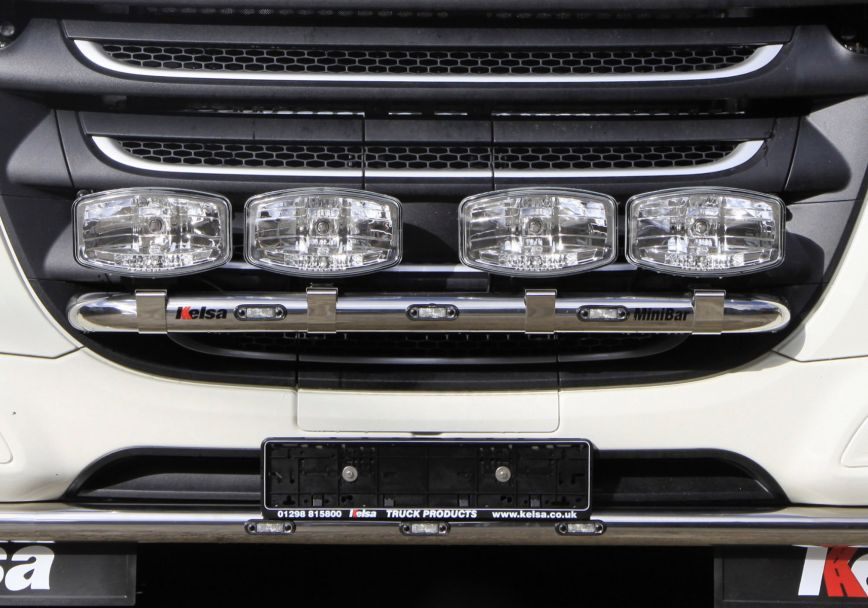 Přední nerezový rám Kelsa MiniBar pro  DAF XF106 Facelift Superspace