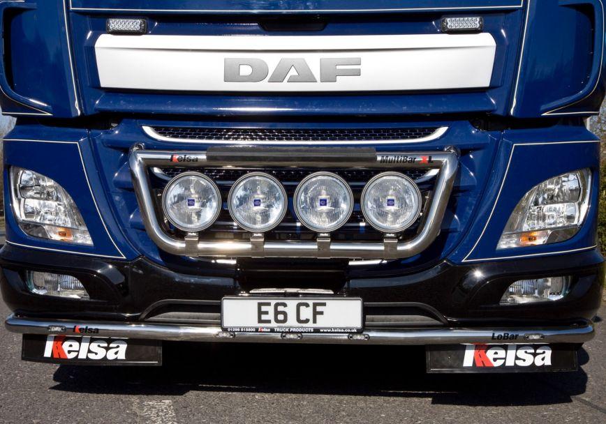 Přední nerezový rám Kelsa MultiBarXL pro  DAF CF Euro6 Denní kabina