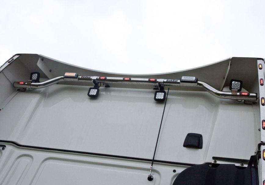 Zadní nerezový rám Kelsa BakBar high-mount pro  DAF XF106 Superspace