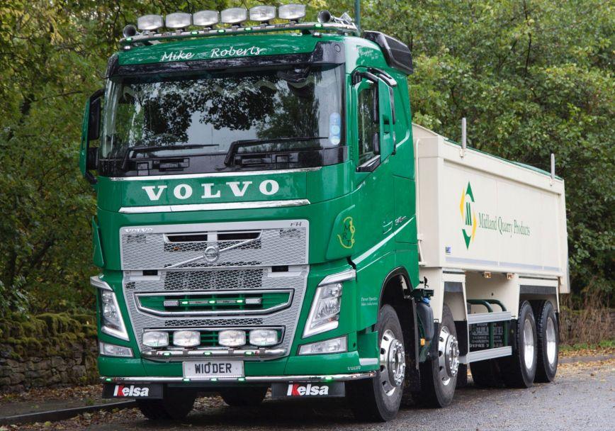 Nerezový rám po nárazník Kelsa LoBar pro  Volvo FH 2013-2020 Denní kabina