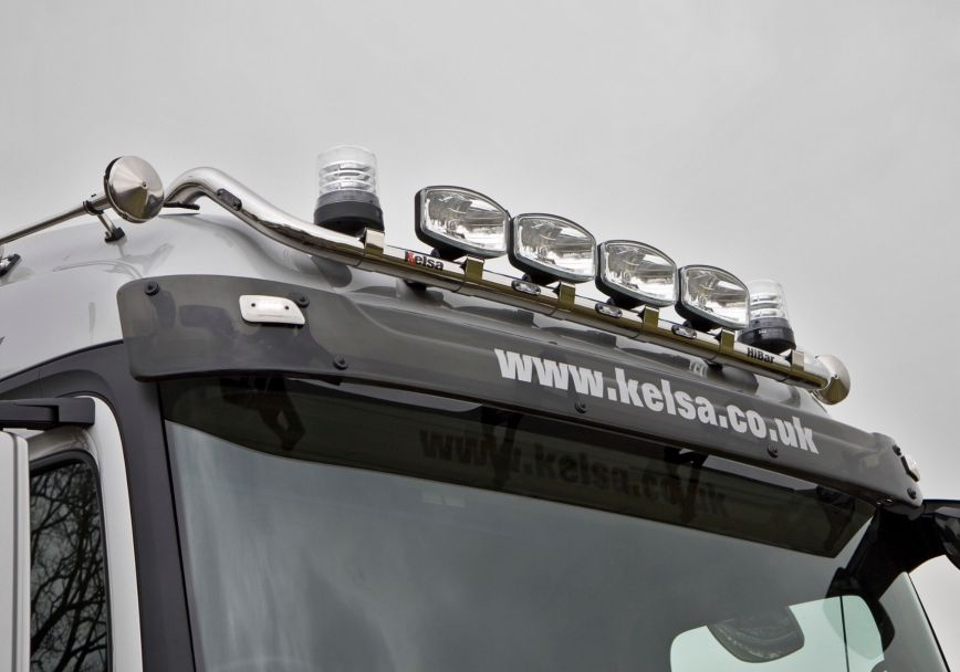 Střešní nerezový rám Kelsa HiBar pro  Mercedes Actros 2012-on Streamspace 2.5m