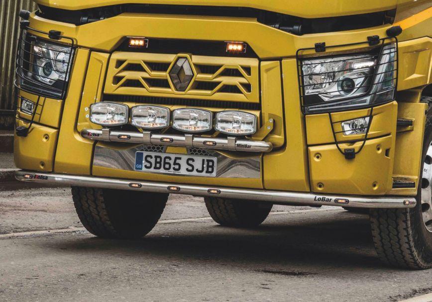 Nerezový rám po nárazník Kelsa LoBar pro  Renault C Range Standard