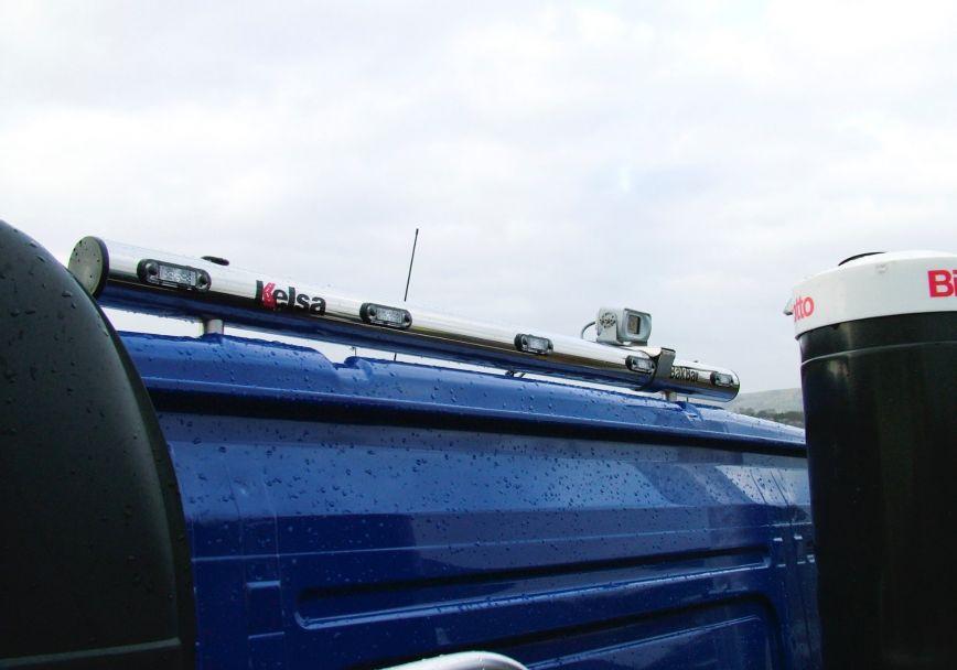 Zadní nerezový rám Kelsa BakBar Straight Style pro  Volvo FM Euro6 Globetrotter