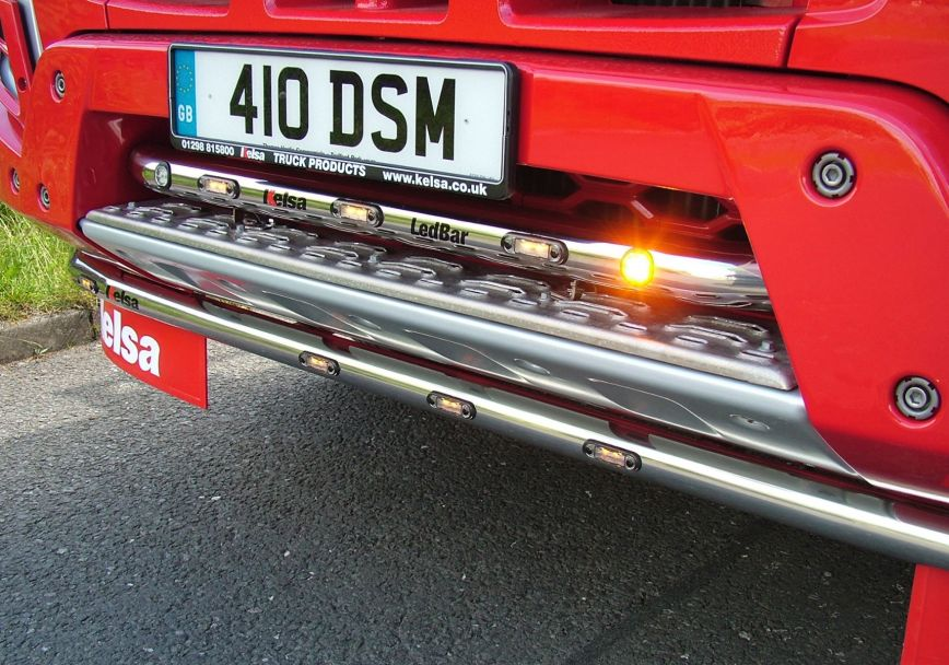 Přední nerezový rám/lišta Kelsa LedBar pro  Volvo Euro 6 FMX Day Cab