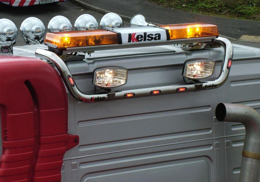 Zadní nerezový rám Kelsa BakBar Drop Down Style pro  Volvo FM Euro6 Globetrotter