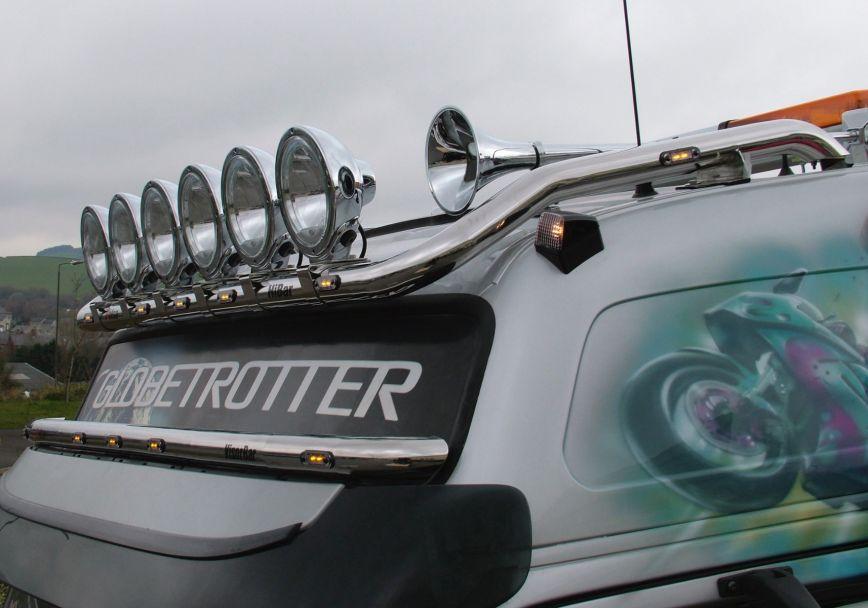 Střešní nerezový rám Kelsa HiBar Drop Down Style - Full Width pro  Volvo FM Euro6 Globetrotter