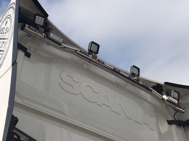 Zadní nerezový rám Kelsa BakBar Horní pro  Scania Next Generation R&S Střední kabina