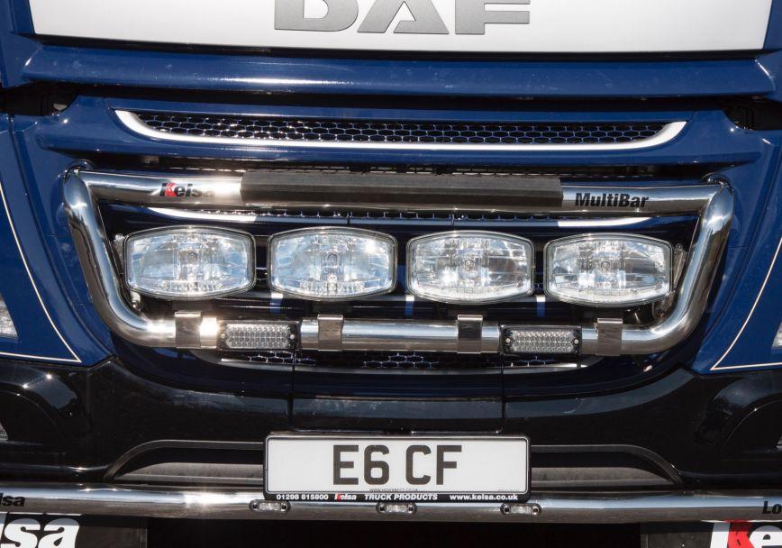 Přední nerezový rám Kelsa MultiBar pro  DAF CF Euro6 Denní kabina