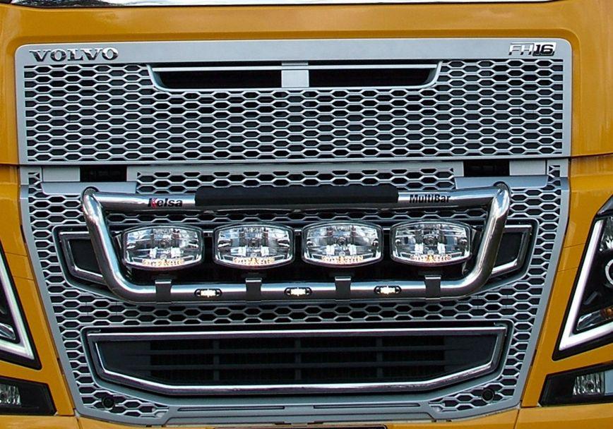 Přední nerezový rám Kelsa MultiBar High Mount pro  Volvo FH 2013-2020 Denní kabina