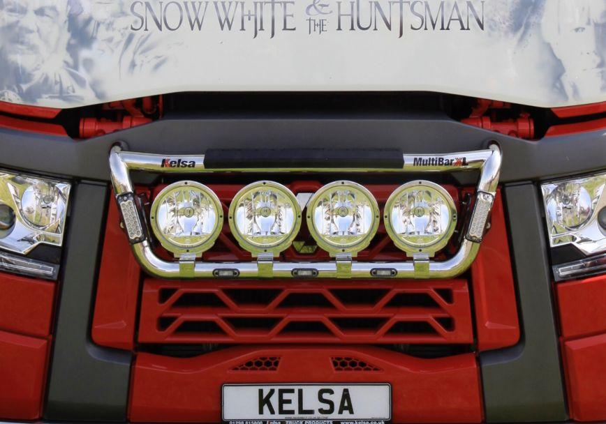 Přední nerezový rám Kelsa MultiBarXL High mount pro  Renault T Range Long Haul Sleeper