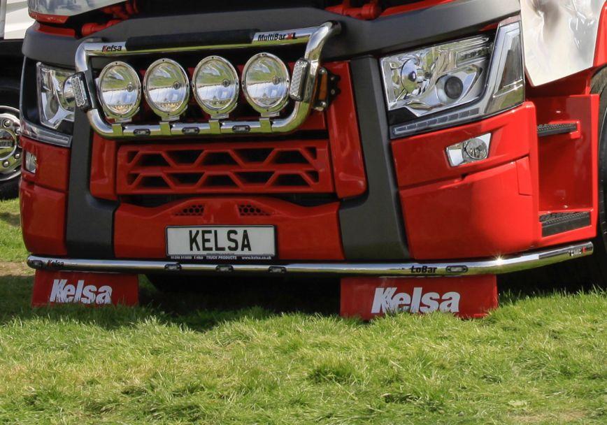 Nerezový rám po nárazník Kelsa LoBar pro  Renault T Range Long Haul Sleeper
