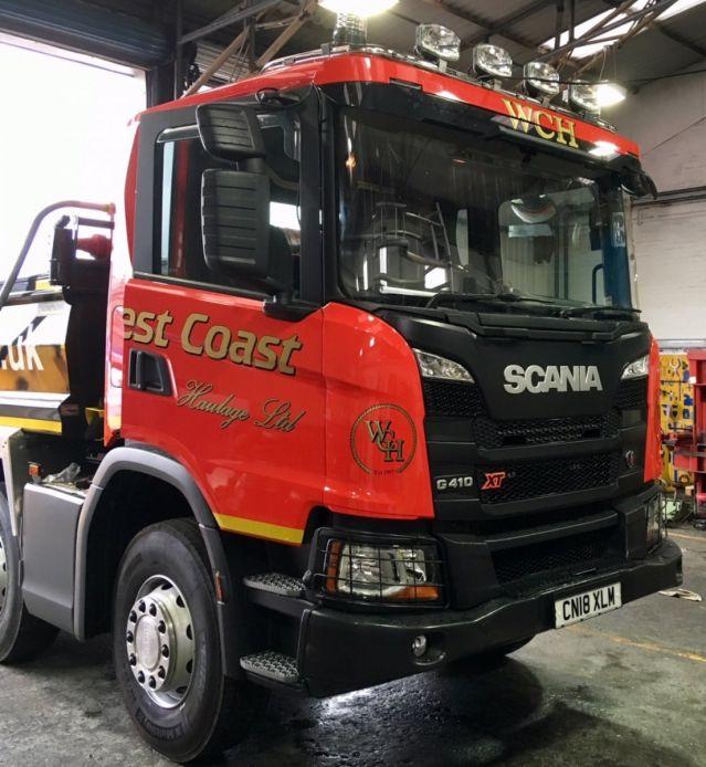 Střešní nerezový rám Kelsa HiBar Široký pro  Scania Next Generation R&S Nízká kabina