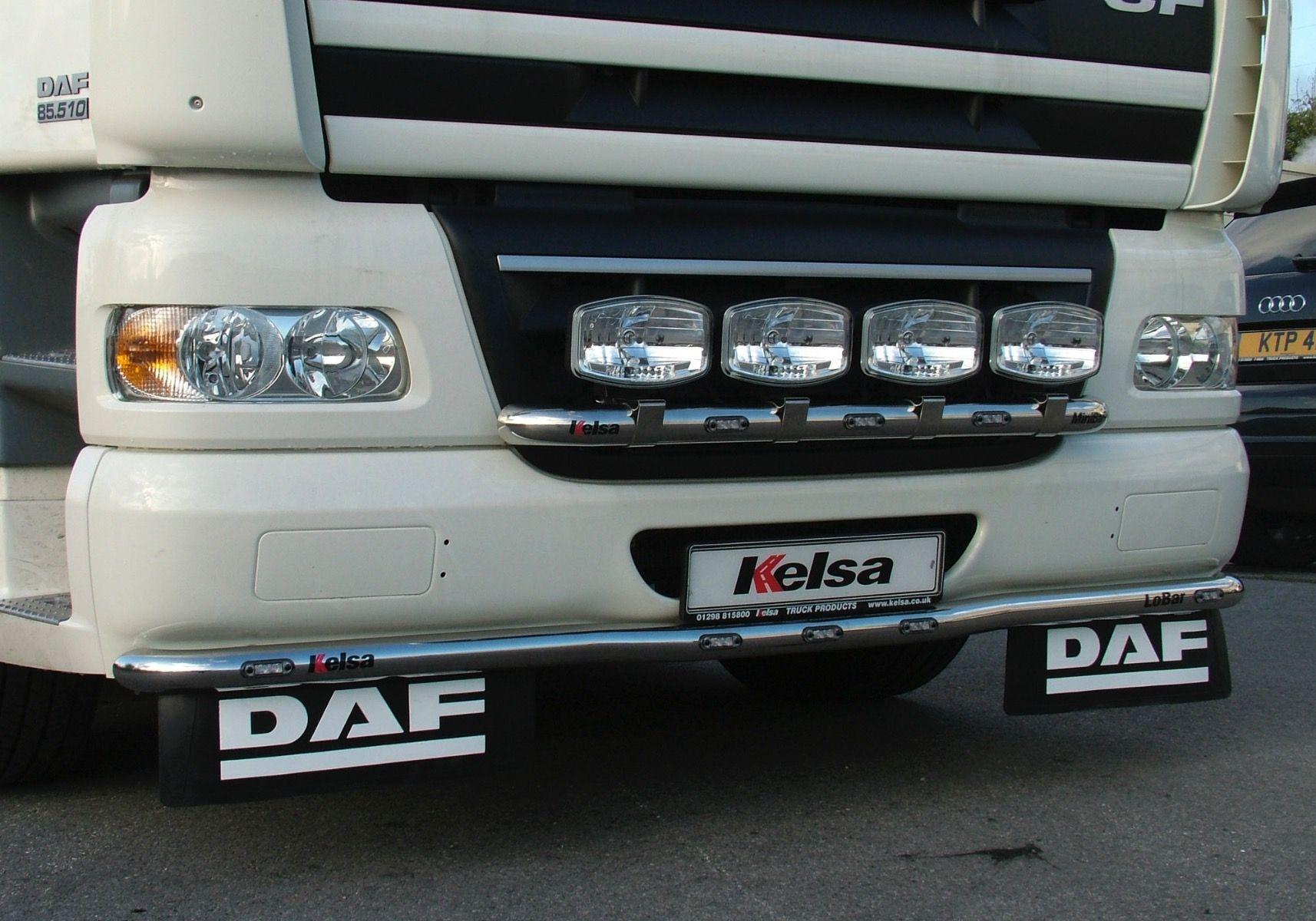 Přední nerezový rám Kelsa MiniBar pro  DAF CF Euro6 Denní kabina
