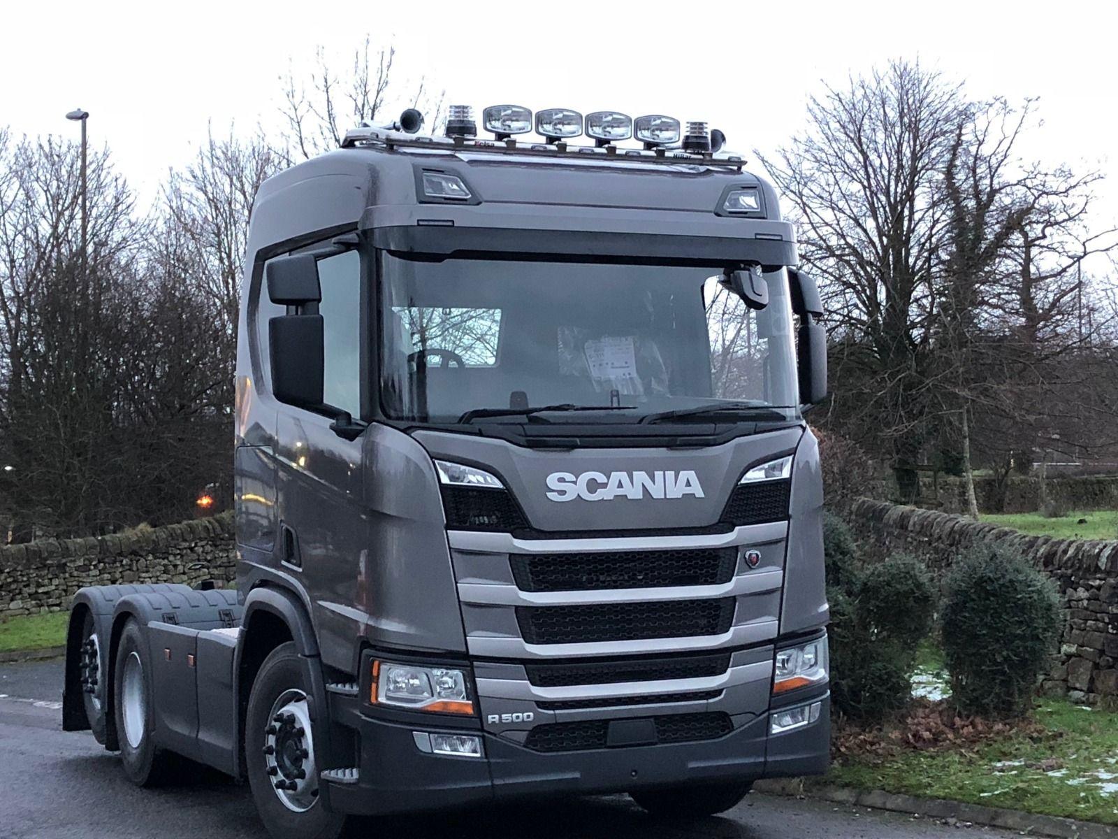 Střešní nerezový rám Kelsa HiBar Široký pro  Scania Next Generation R&S Střední kabina